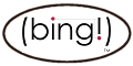 Logo for bing! from 2003 via The Wayback Machine